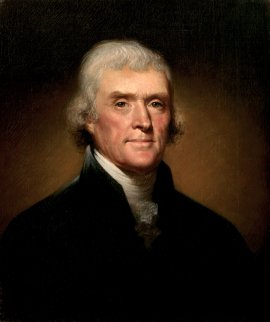 Painting by Rembrandt Peale - Thomas Jefferson